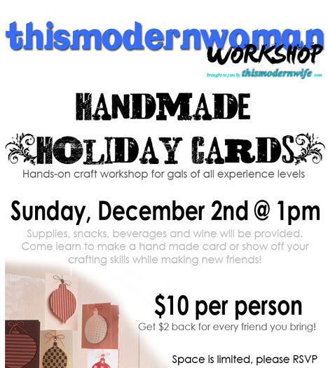 Handmade holiday card workshop