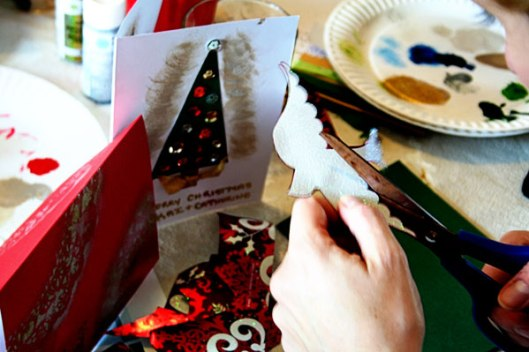 Cutting for holiday cards