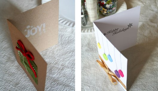 Super easy DIY holiday cards