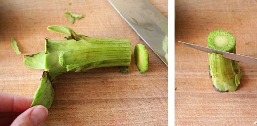 Microwave steamed artichoke