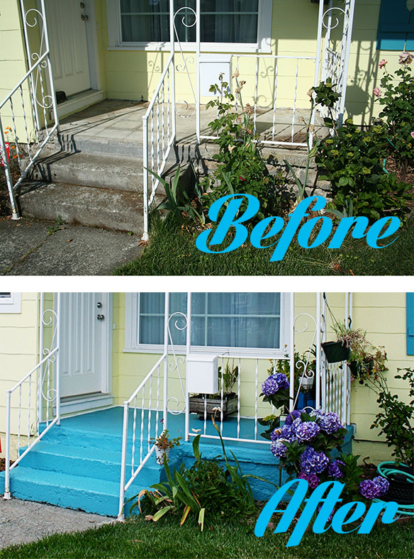 DIY Painted Concrete Patio And Foundation Young House