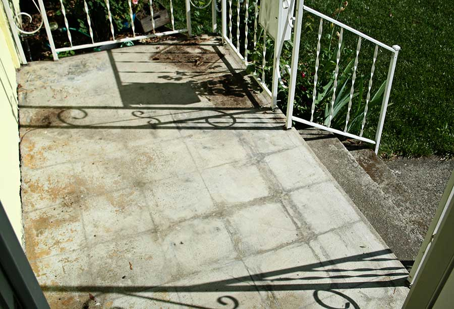 how to paint a concrete patio thismodernwife